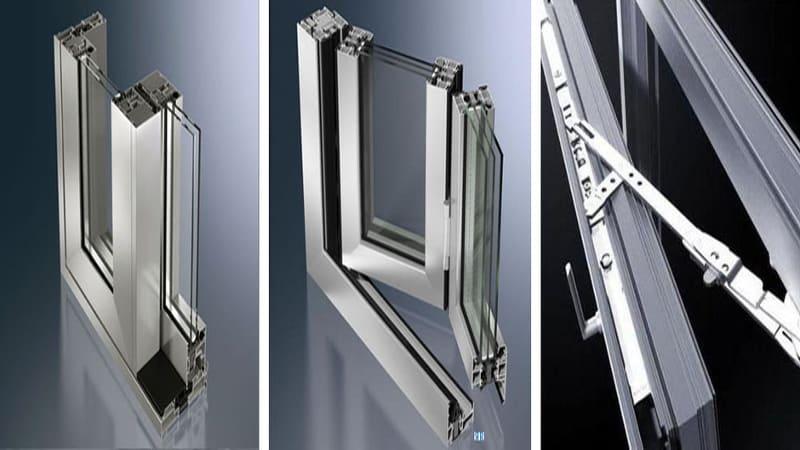 Алюминиевые конструкции система открывания гармошка, фурнитура портал